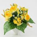 光触媒 光の楽園ミックスローズY【アートフラワー 造花 】(acn135)