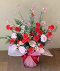 光触媒 光の楽園アレンジカーネーションL【アートフラワー 造花 】(acn152)