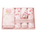 和のこころ さくら ガーゼパイルと甘撚りパイルのタオルセット No.25