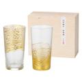 江戸硝子 金玻璃 冷酒杯吟醸揃え No.110