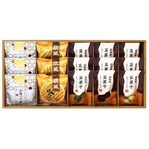 【送料無料】小豆パイ・ヴァッフェル和菓子詰合せ(W13-09)