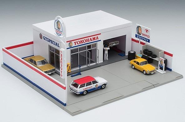 TOMYTEC 1/64 トミカラマ05a タイヤショップ(ヨコハマタイヤ)
