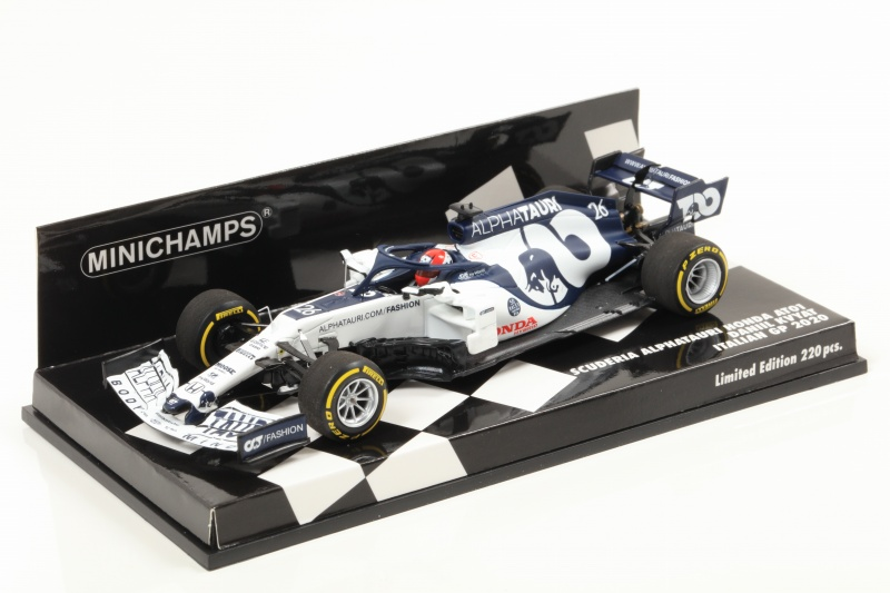 MINICHAMPS 1/43 Scuderia AlphaTauri Racing Honda AT1 Daniel Kvyat Italy GP 2020