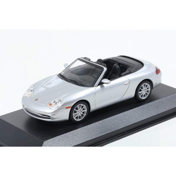 【MINICHAMPS】 1/43  ポルシェ 911 カブリオレ (996) 2001 シルバー ※MAXICHAMPSシリーズ