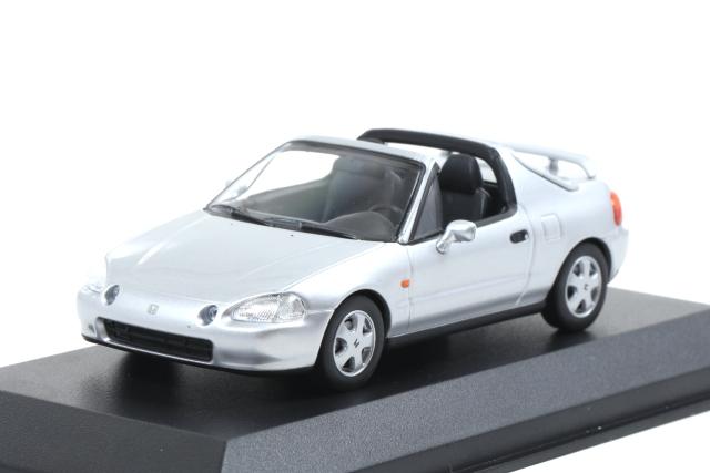 MAXICHAMPS 1/43 Honda CR-X del Sol 1992 Silver metalllic