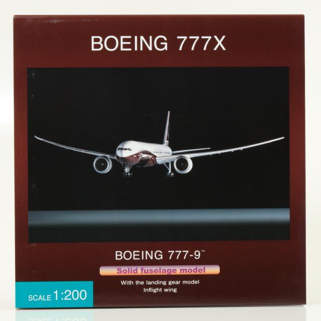全日空商事 1/200 BOEING 777-9 BOEING ハウスカラー 空中姿勢 完成品ソリッド(ギア付)