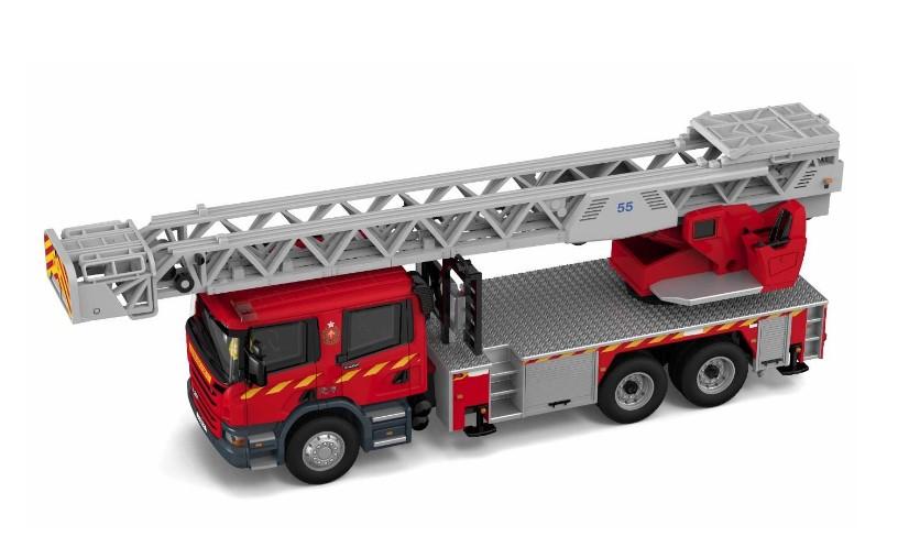 TINY スカニア 香港消防局 はしご消防車 55M (F6003)