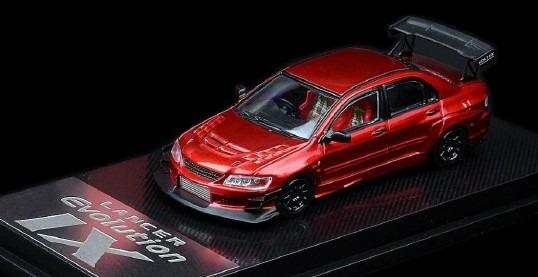 CM-MODEL 1/64 Mitsubishi Lancer Evolution IX Red Metallic