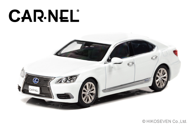 CARNEL 1/43 レクサス LS600h VersionL (UVF45) 2014 White Pearl Crystal Shine *限定300台