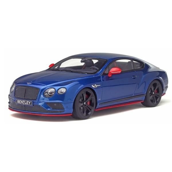 【GTスピリット】 1/18 ベントレー コンチネンタル GT スピード ブラックエディション (ブルー) アジア限定モデル ※限定500台(日本国内250台)