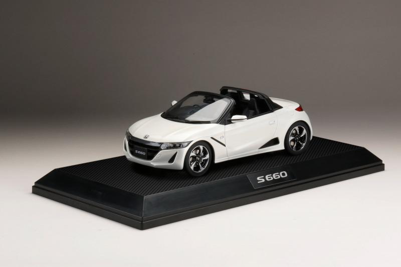 <予約 2022/3月発売予定> HobbyJapan 1/18 Honda S660 α プレミアムスターホワイトパール
