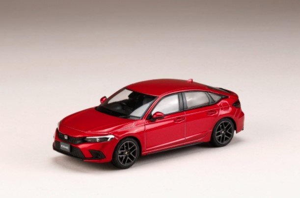 HJ43 1/43 Honda CIVIC 2021 プレミアムクリスタルレッド・メタリック