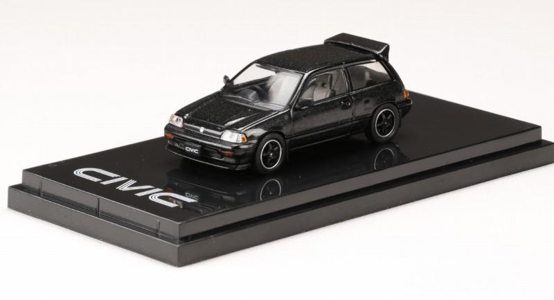 <予約 2021/5月発売予定> HobbyJapan 1/64 ホンダ CIVIC Si (AT) 1984 カスタムバージョン (ワンダーシビック) ブラック(カスタムカラー)