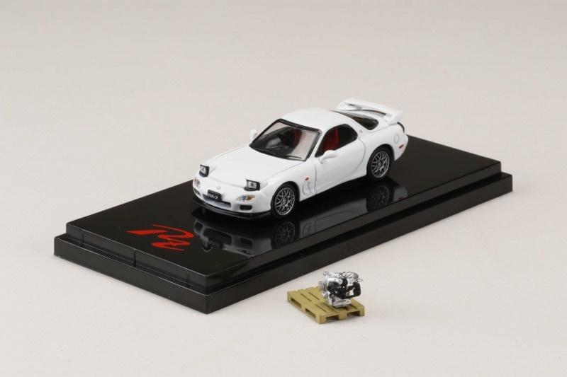 <予約 2021/7月発売予定> HobbyJapan 1/64 マツダ RX-7 (FD3S) Type RZ エンジンディスプレイモデル付 ピュアホワイト