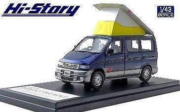Hi-Story 1/43 MAZDA BONGO FRIENDEE RF-V(1995) ソロモンブルーマイカ&サイレントシルバーメタリック