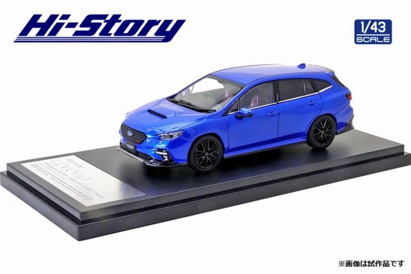 Hi-Story 1/43 SUBARU LEVORG STI Sport(2020) STIスポーツパーツ WRブルーパール