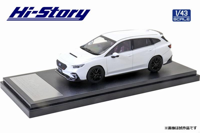 Hi-Story 1/43 SUBARU LEVORG STI Sport(2020) STIスポーツパーツ クリスタルホワイトパール