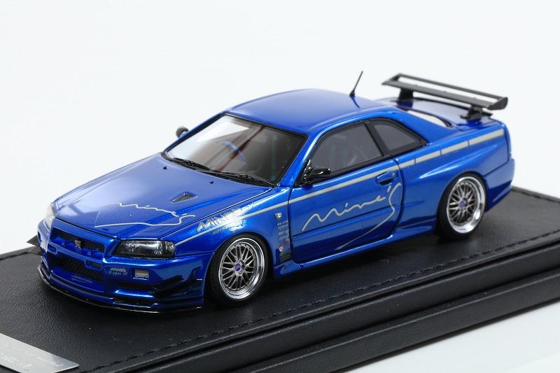 イグニッションモデル 1/43 Nissan Skyline GT-R Mine's (R34) Bayside Blue