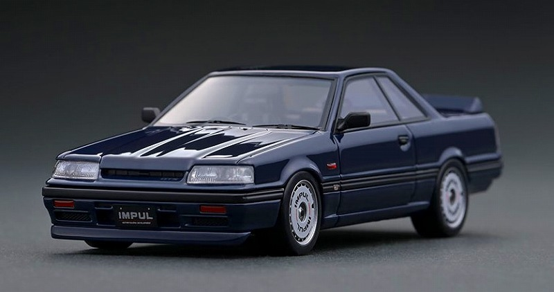 Ignition model 1/43 Nissan Skyline GTS-R (R31) Blue Black With Mr. Hoshino