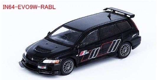 INNO 1/64 三菱 ランサー エボリューション IX ワゴン 2005 ラリーアート ブラック
