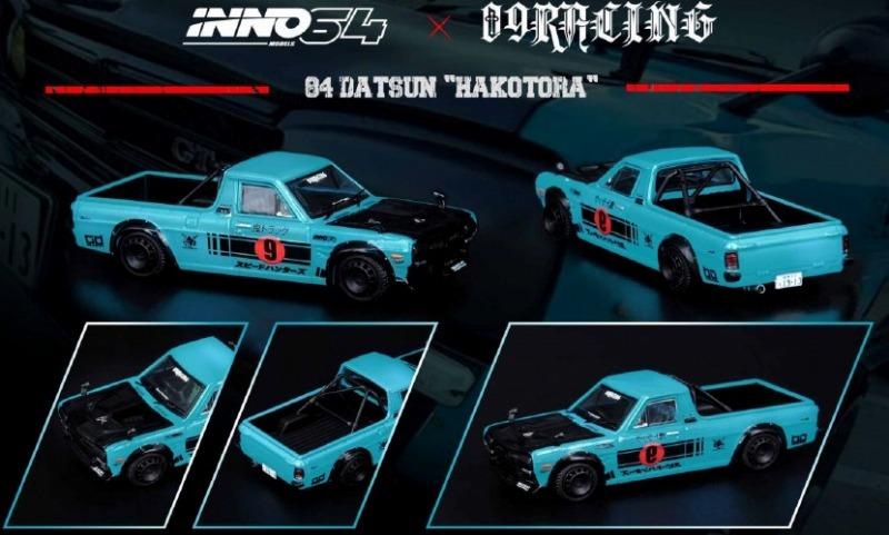 "INNO 1/64 DATSUN ""HAKOTORA"" ""09 RACING"" DECEPCIONEZ"