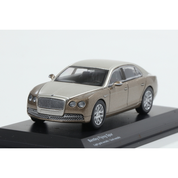 【Kyosho】 1/64 Bentley Flying Spur Light gold metallic / Gold metallic