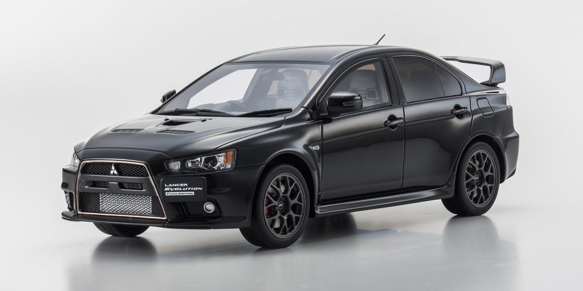 Samurai 1/18 Mitsubishi Lancer Evolution Final Edition Black