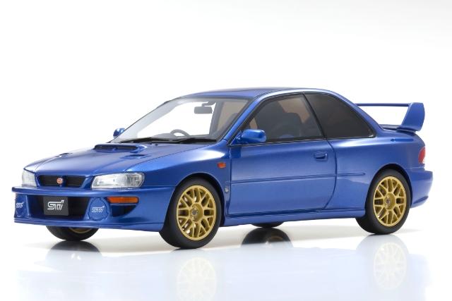 【Kyosho】 1/18 スバル インプレッサ 22B STI バージョン (ブルー) ※限定700台 サムライシリーズ
