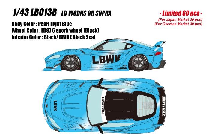 <予約 2021/8月発売予定> EIDOLON 1/43 LB ワークスGR スープラ ライトブルーパール(限定60台)