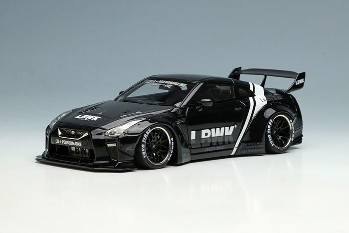 <予約 2021/11月発売予定> EIDOLON 1/43 LBWORKS GT-R Type 1.5 (シルエットワークスウィング) ブラック/ホワイトストライプ 限定100台