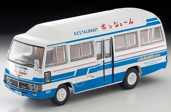 TOMICA LIMITED VINTAGE 1/64 トヨタ コースター ハイルーフ クーラー車(レストラン ボンジュール)