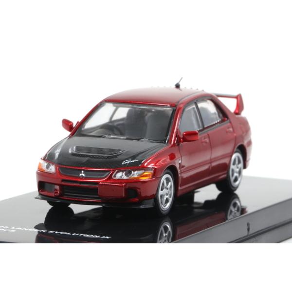 【MC64】 1/64 2005 Mitsubishi LANCER EVOLUTION IX (Red metallic/Carbon bonnet) *限定600台