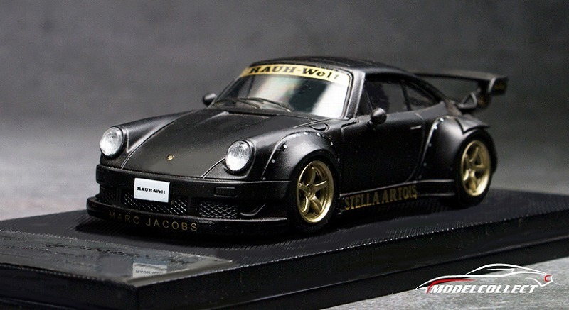 MODEL COLLECT 1/64 RWB 930 Black (Wheel:Gold)