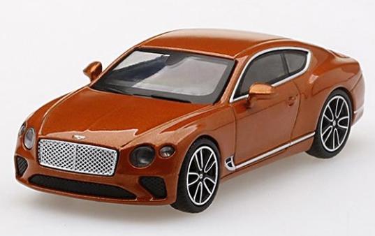MINI GT 1/64 ベントレー コンチネンタルGT オレンジ フレイム (右ハンドル)