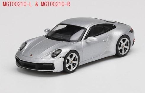 MINI GT 1/64 ポルシェ 911(992) カレラ S GTシルバーメタリック(左ハンドル)
