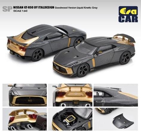 EraCAR 1/64 Nissan GT-R50 By Italdesign Goodwood Version Grayグレー