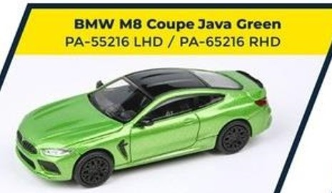 PARA64 1/64 BMW M8 Coupe Java Green LHD