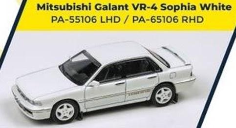 PARA64 1/64 Mitsubishi Galant VR4 Sophia White RHD