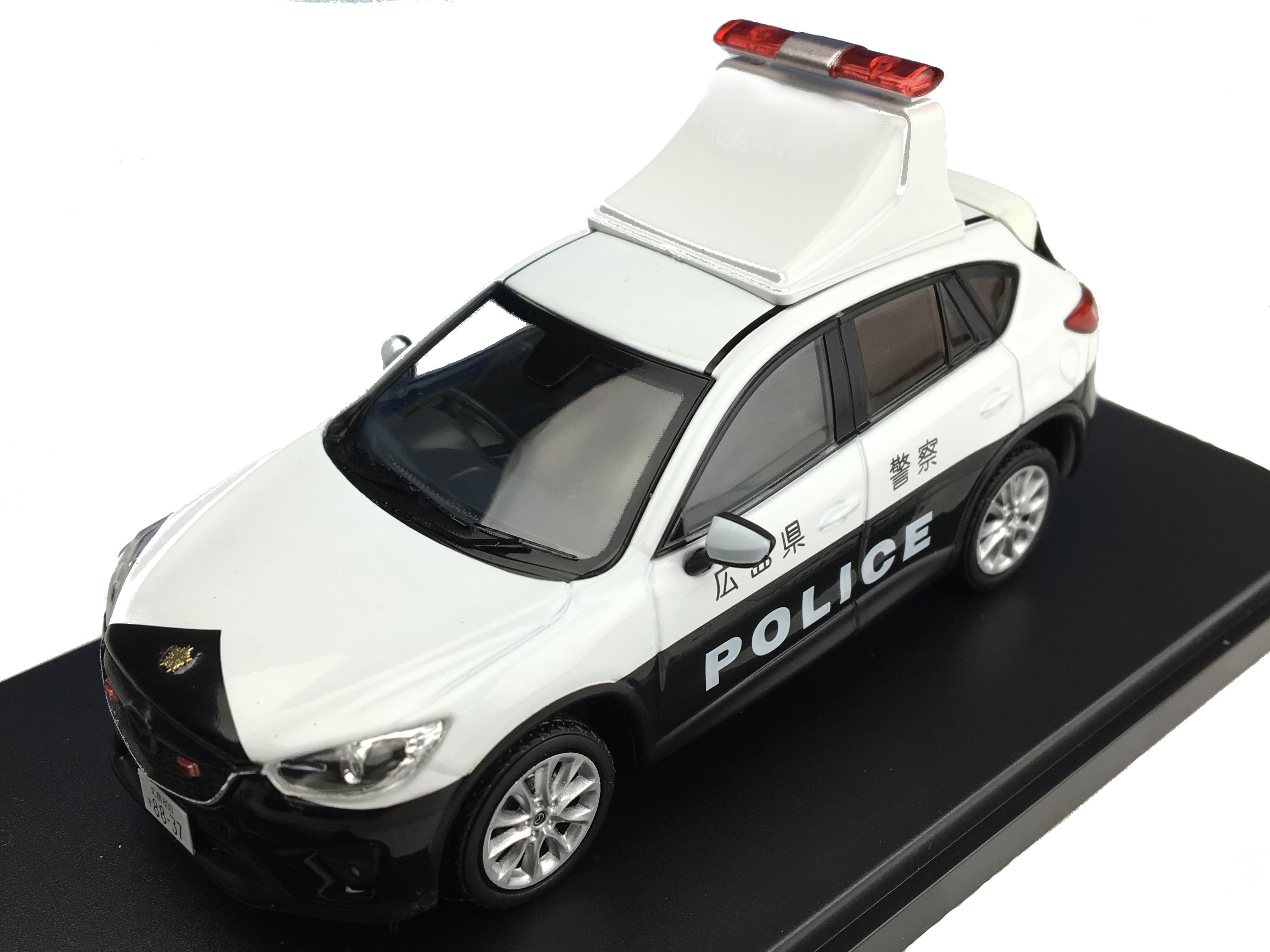 [PremiumX] 1/43 Mazda CX-5 Japanese Police with LED roof sign 2013 広島県警察