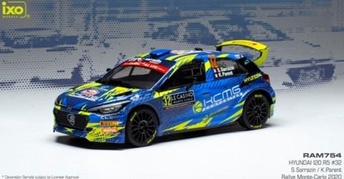 ixo 1/43 HYUNDAI i20 R5 No,32 Rallye Monte Carlo 2020