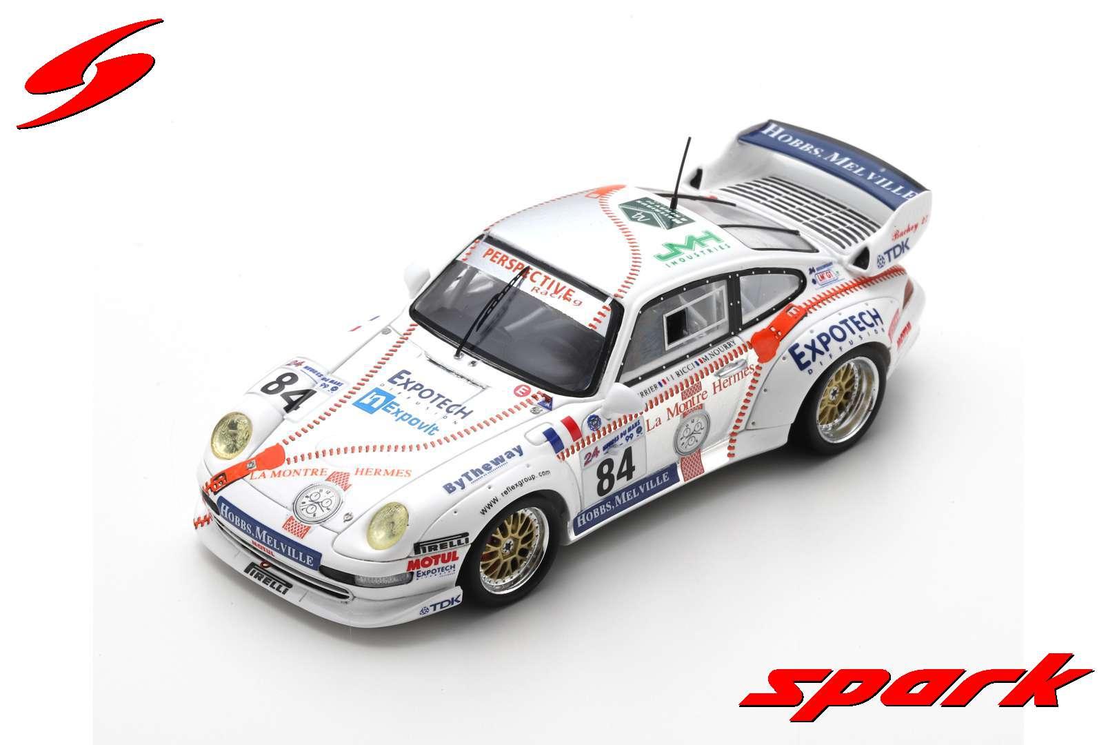 spark 1/43 PORSCHE 911 CARRERA RSR NO.84 24H LE MANS 1999 T. PERRIER - J-L. RICCI - M. NOURRY