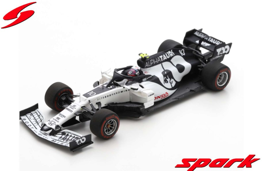 Spark 1/43 AlphaTauri AT01 No.10 Scuderia AlphaTauri F1 Team 7th Austrian GP 2020 P.Gasly