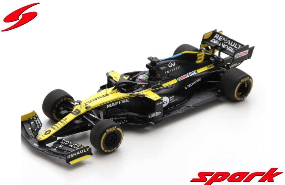 Spark 1/43 Renault R.S. 20 No.3 Renault DP World F1 Team 8th Styrian GP 2020 D.Ricciardo