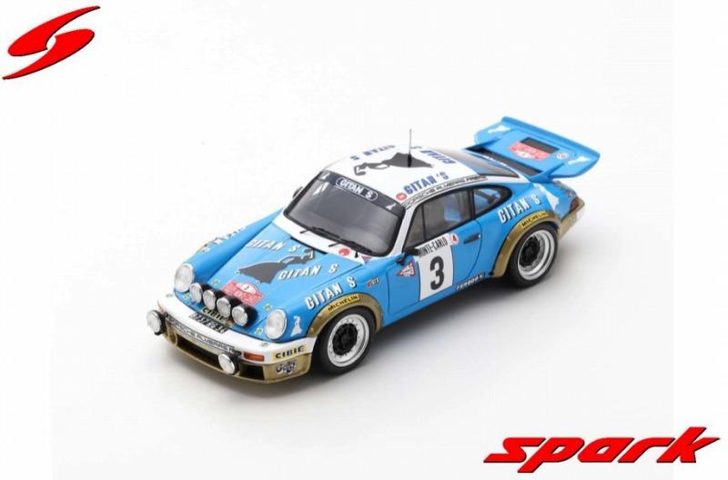 Spark 1/43 Porsche 911 No.3 Winner Rally Monte Carlo 1978 J-P. Nicolas - V. Laverne