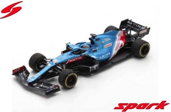 Spark 1/43 Alpine A521 No.14 Alpine F1 Team Bahrain GP 2021 Fernando Alonso