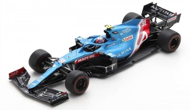 Spark 1/43 Alpine A521 No.31 Alpine F1 Team Bahrain GP 2021 Esteban Ocon