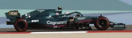 Spark 1/43 Aston Martin AMR21 No.5 Aston Martin Cognizant F1 Team Bahrain GP 2021 Sebastian Vettel