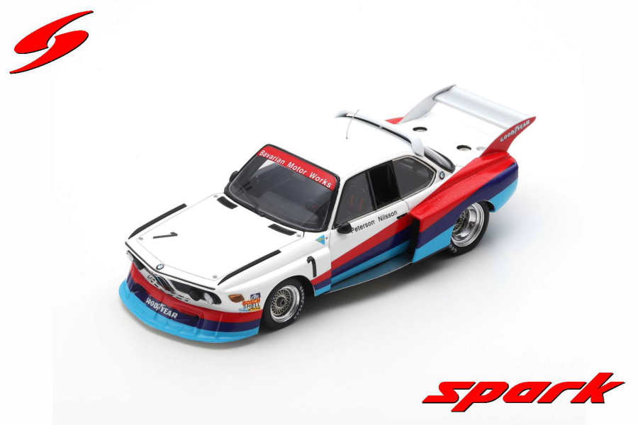 【spark】 1/43 BMW 3.5 CSL TURBO NO.1 SILVERSTONE 6H 1976 R. PETERSON - G. NILSSON LIMITED 600