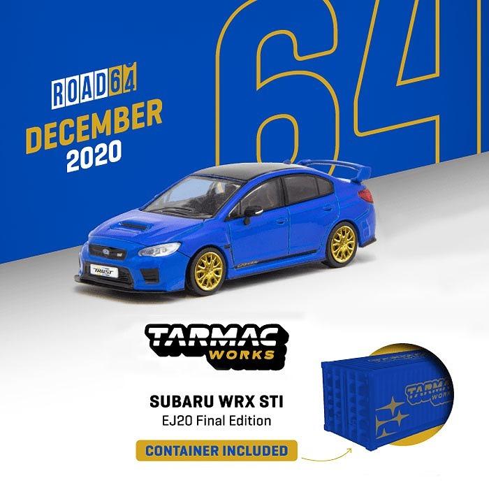 TARMAC 1/64 Subaru WRX STI EJ20 Final Edition Blue ※コンテナBOX付