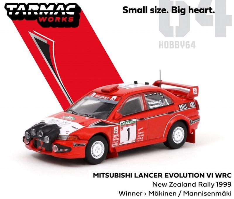 <予約> [TARMAC] 1/64 Mitsubishi Lancer Evolution VI WRC New Zealand Rally 1999 Winner